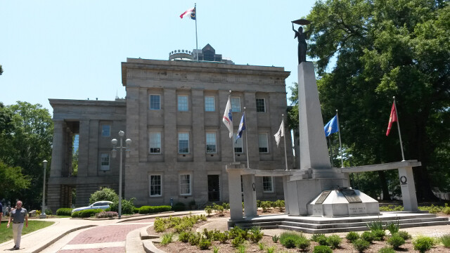 Free entertainment - I spent a day playing the solo tourist in Raleigh. State Capitol building.