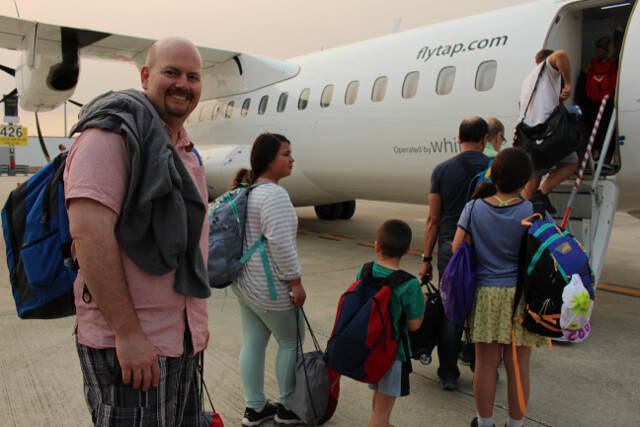 Took this tiny turboprop for a short hop from Lisbon to Malaga, Spain.