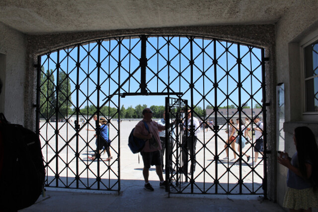 Dachau concentration camp memorial site just north of Munich. 2 hours by public transit or 40 minutes by car.