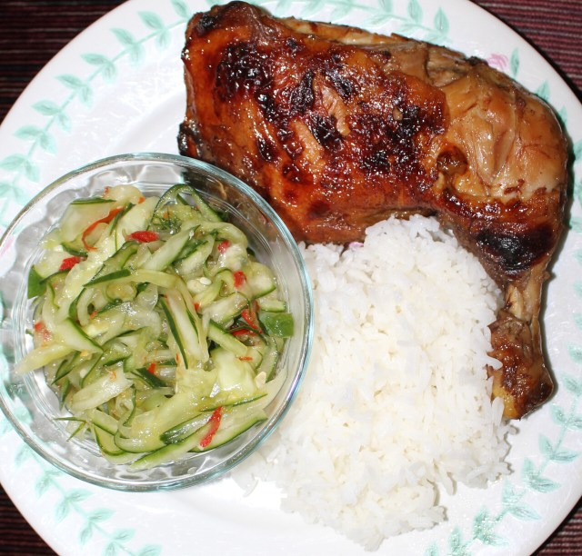 Chicken and cucumber salad