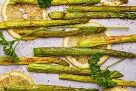 Roasted springtime asparagus