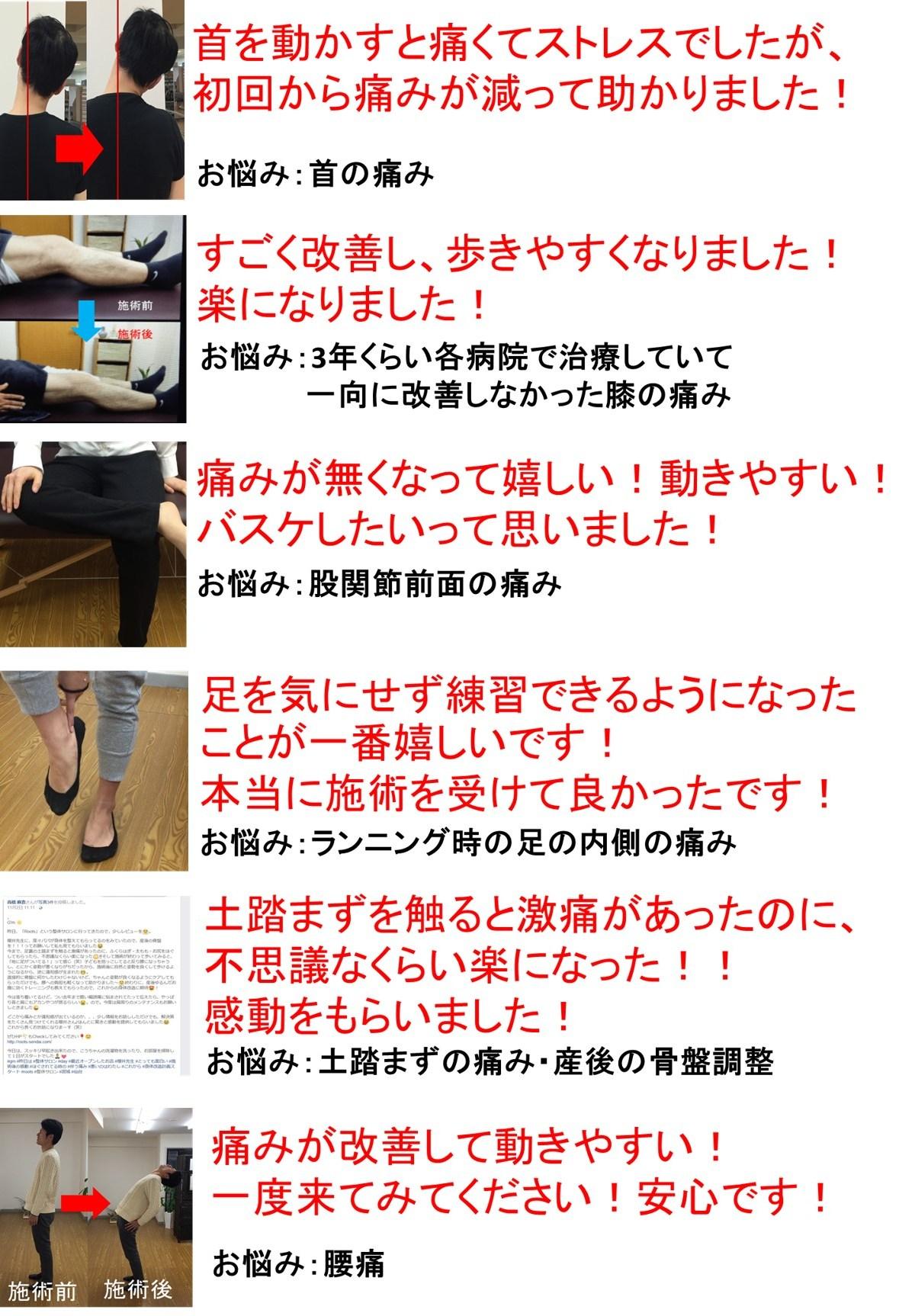 仙台で筋膜を治療してお悩みを解消した人
