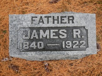 Headstone for James R. Reed, Falls City, Neb. 2