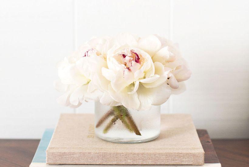 flowers on books