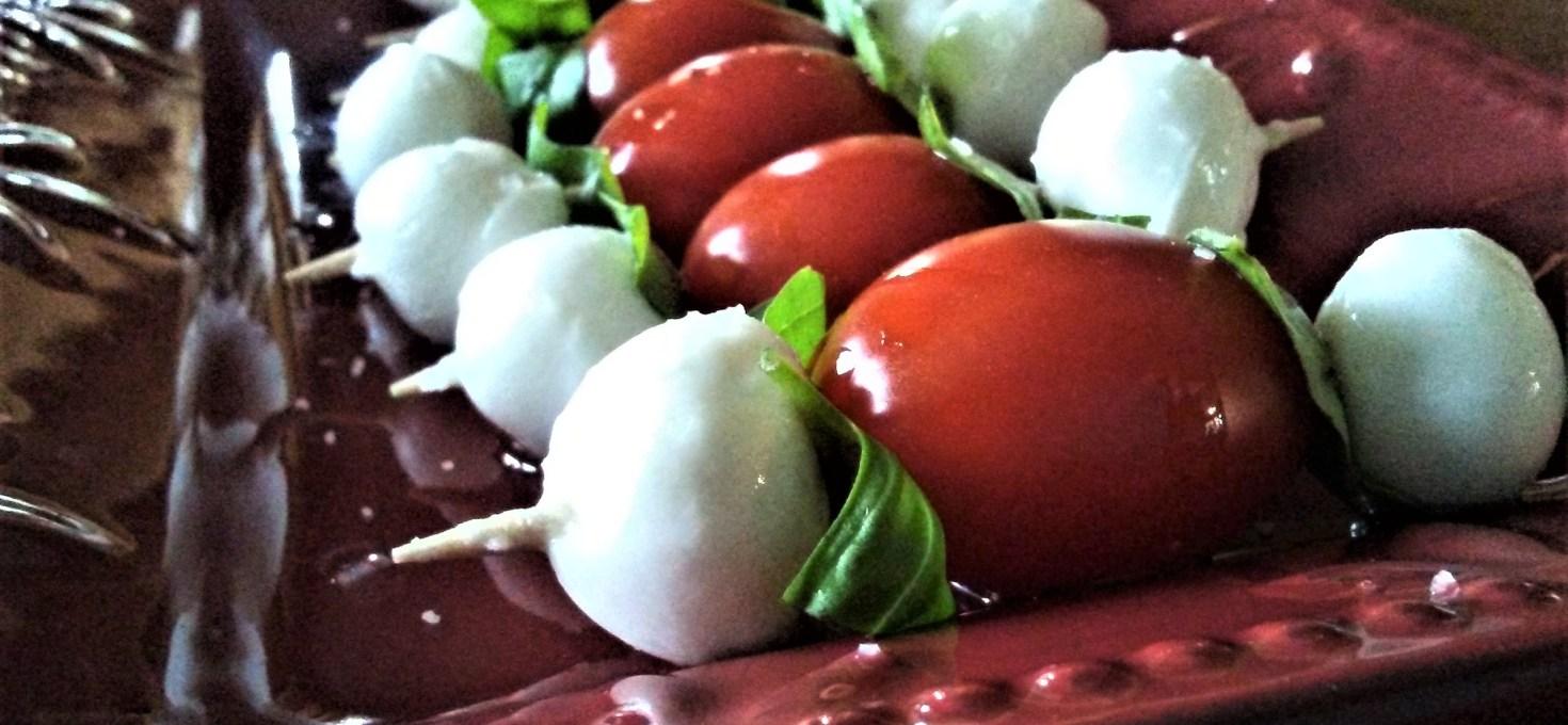 Mini Margherita Kebabs