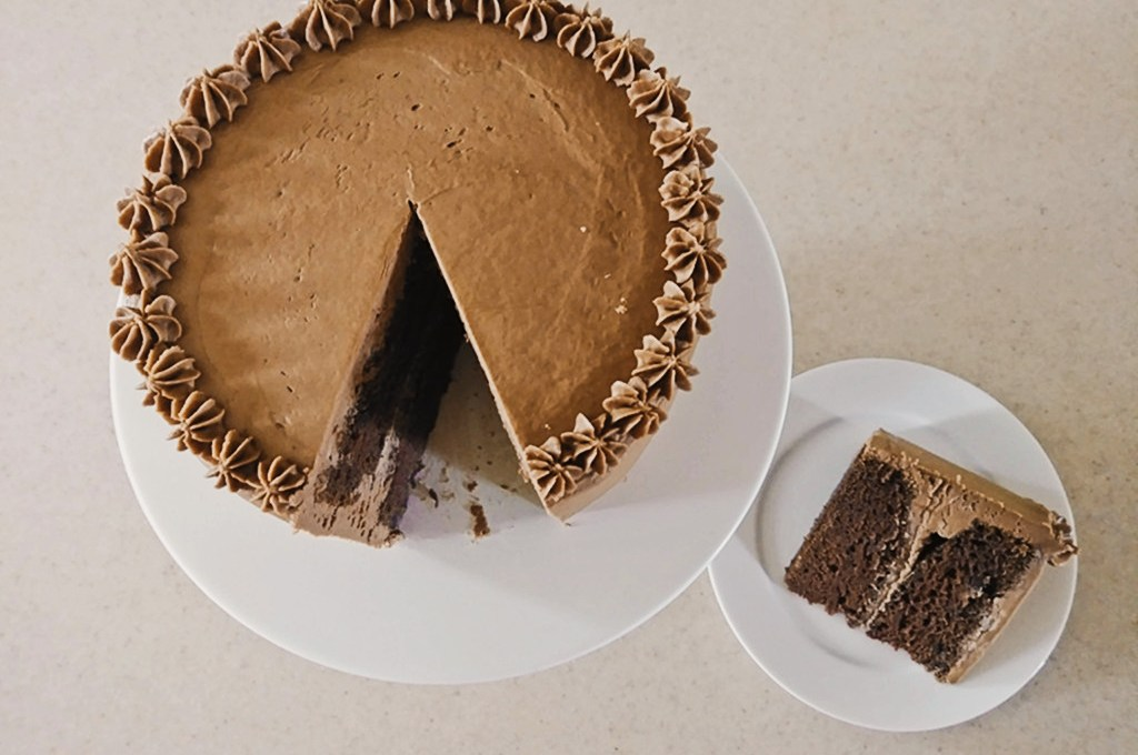 Coffee Infused Cake with Mocha Frosting
