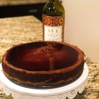 Eggless Merlot Chocolate Cheesecake
