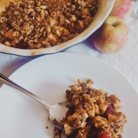 Harvest Apple Cranberry Crisp