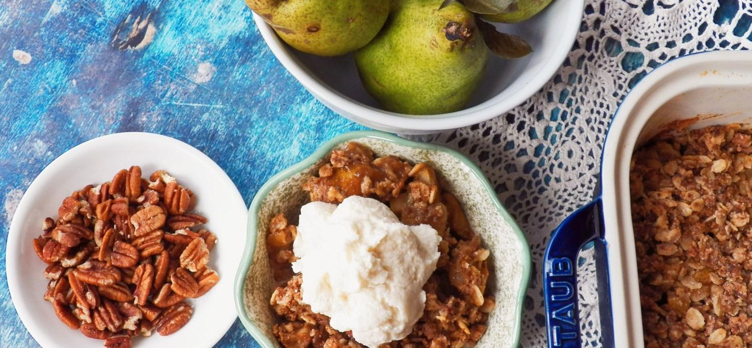 Vegan Pecan Pear Crisp