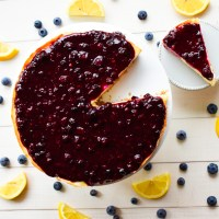 Gluten-Free Lemon Blueberry Cheesecake