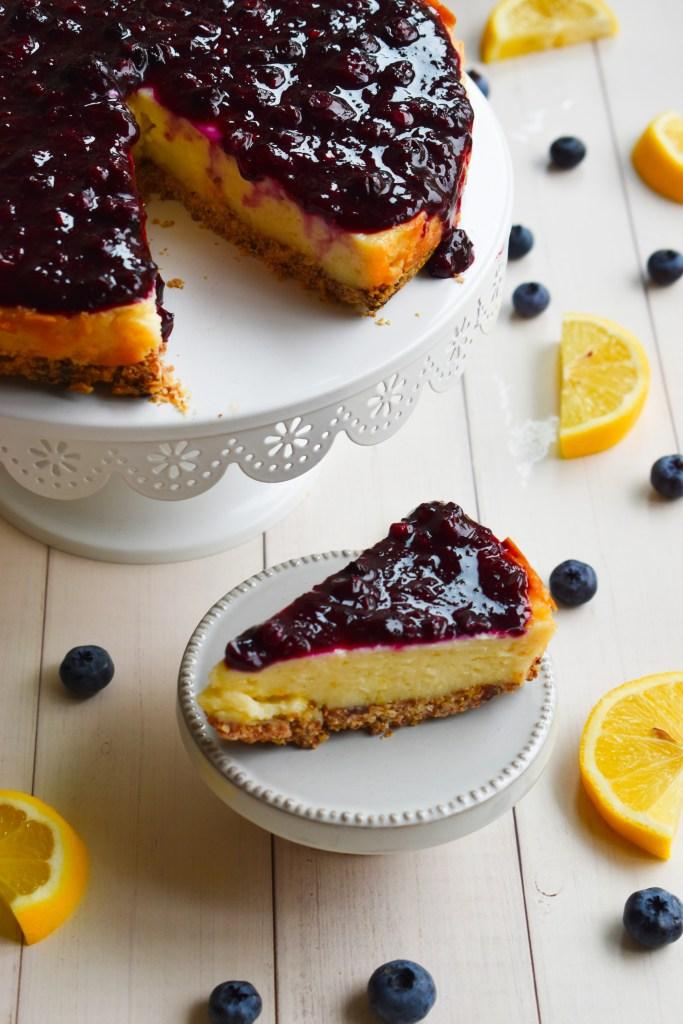 Gluten-free Lemon Blueberry Cheesecake