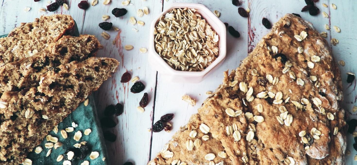 Vegan Amish Oatmeal Bread with Raisins