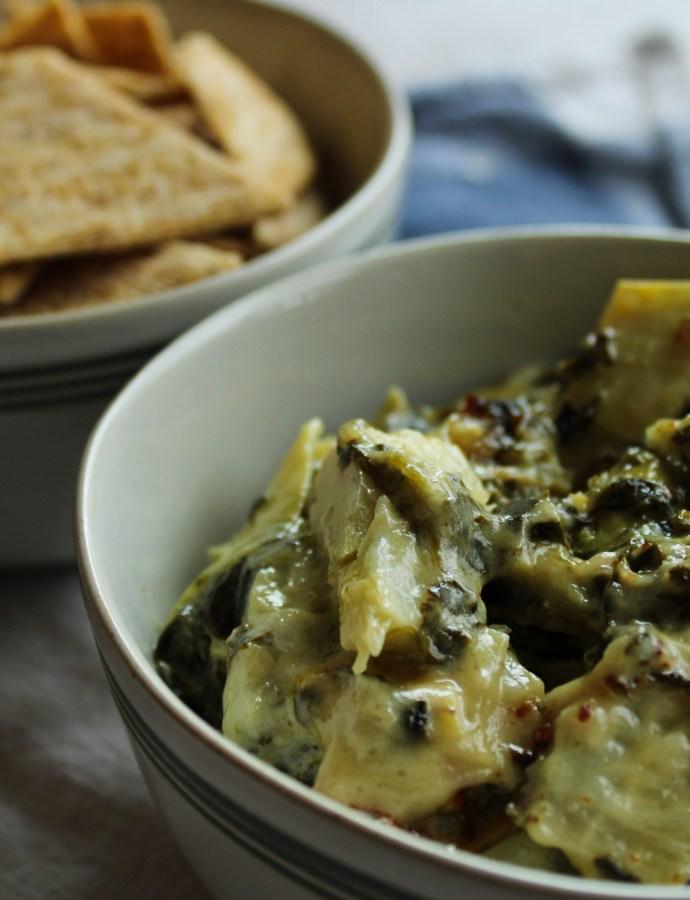 Egg-Free Spinach Artichoke Dip