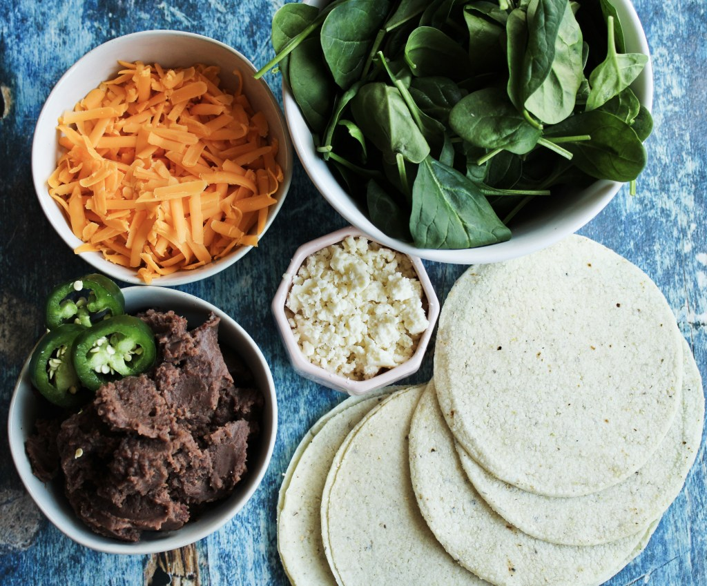 Black Bean & Spinach Quesadillas