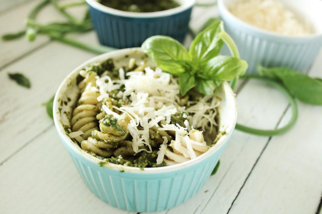 nut free parmesan pesto with pasta
