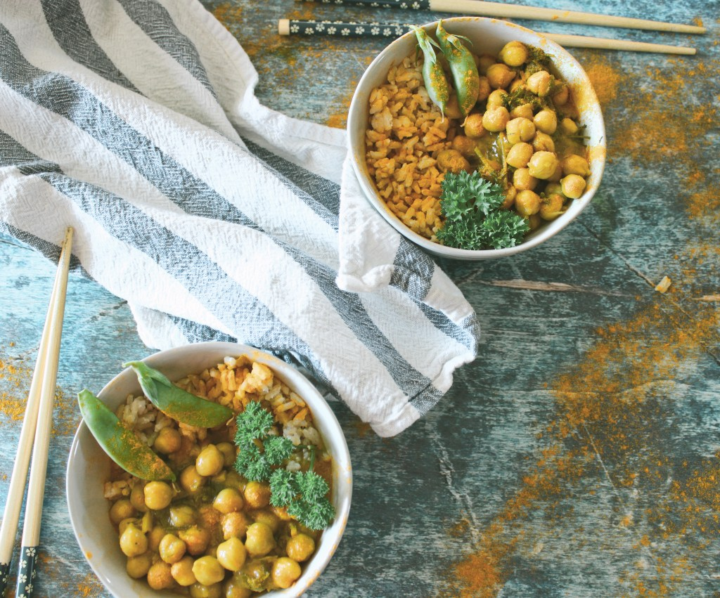 herbal chickpea stew