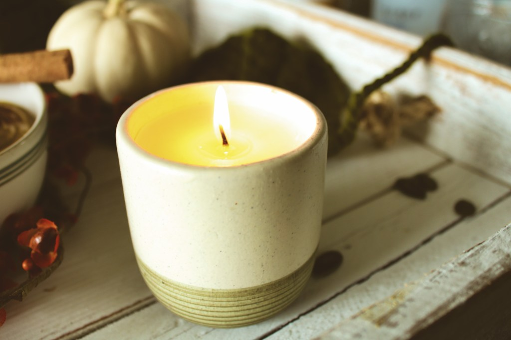 Cozy fall candle