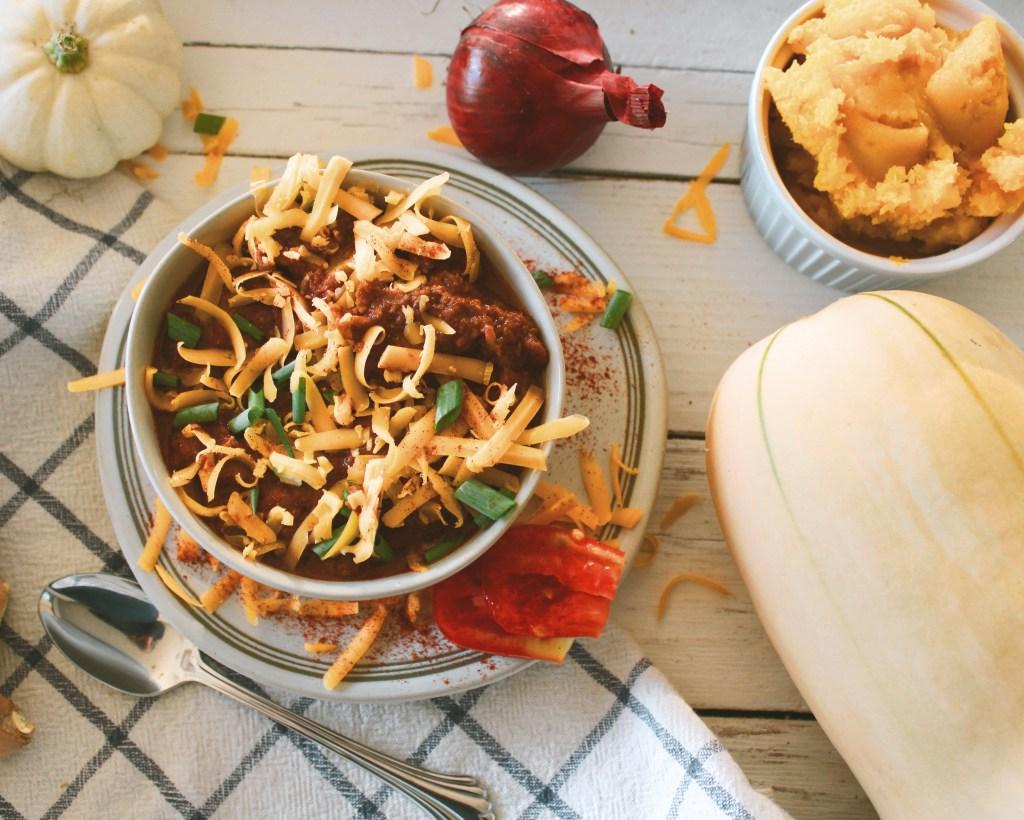 instant pot butternut chili
