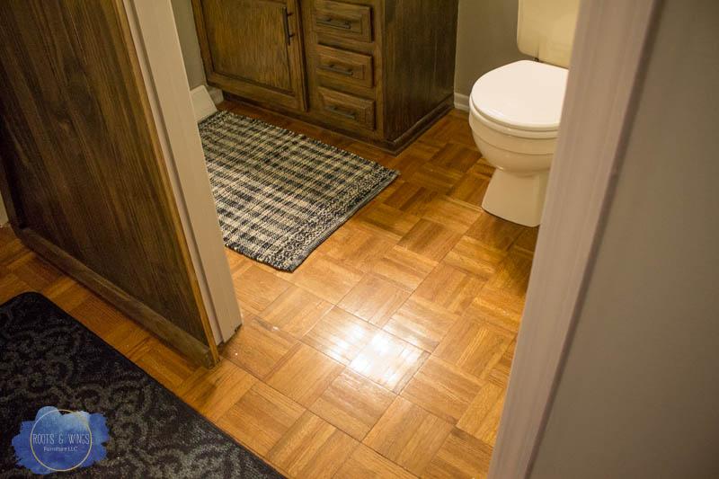 painting hardwood floor to look like