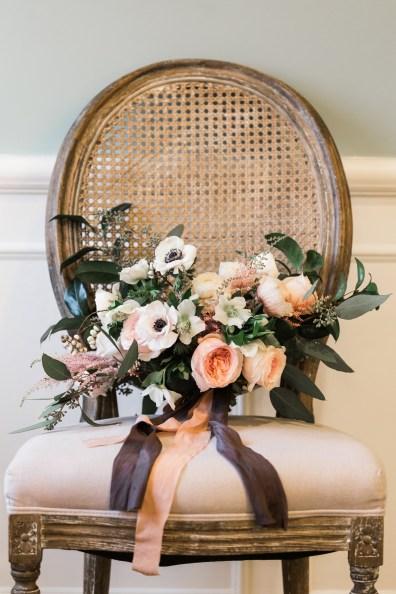 spring wedding bouquet, roots floral design