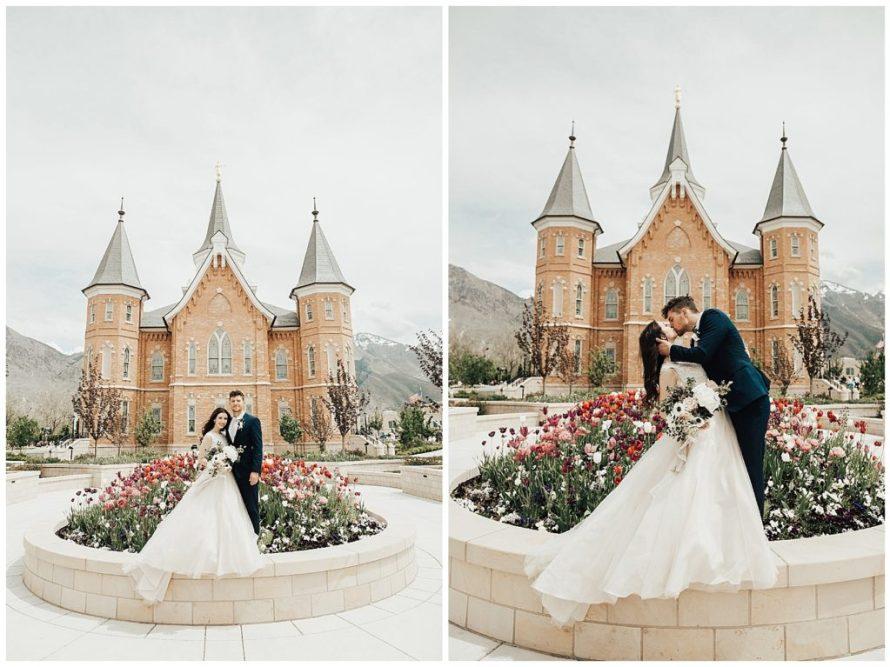 Provo City Temple White Shanty Wedding