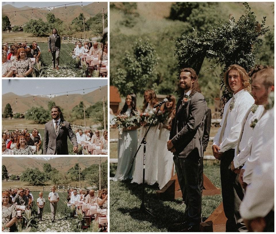 Rustic Summer Wedding | Quiet Meadow Farms | Ceremony
