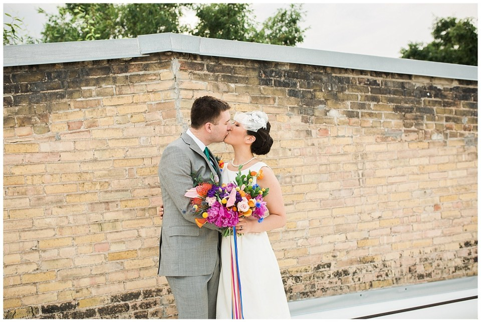 Colorful Industrial Wedding