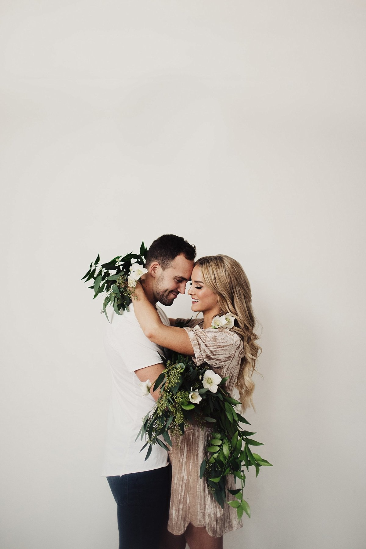 Engagement Photoshoot with Flowers