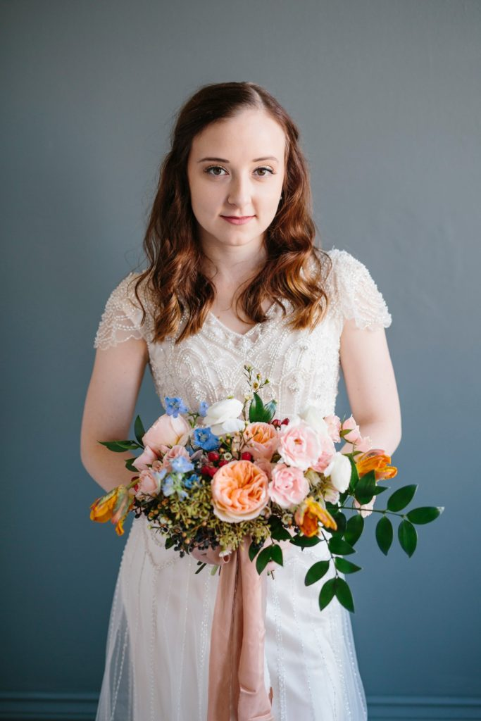 Colorful Bridal Portraits | Ohio Wedding Florist