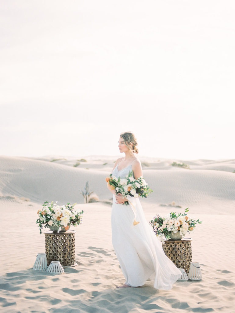 Golden Summer Elopement at the Sand Dunes | Romantic Styled Wedding Shoot