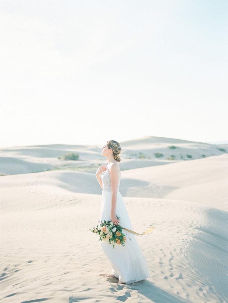 Sand Dunes Elopement Desert Wedding Ideas