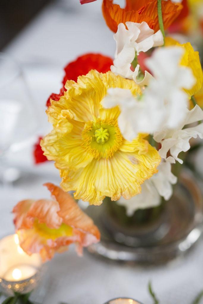 Icelandic Poppies Wedding Centerpiece