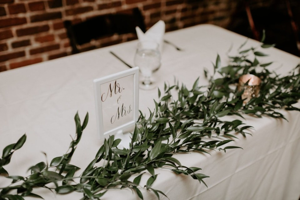 Wedding at Patrick O'Shea's in Louisville Kentucky with florist Roots Floral Design