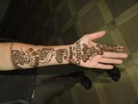 My arm, ready for Diwali.