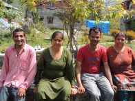 Ravi, Anita-ji, Tilak, and Kanta-ji
