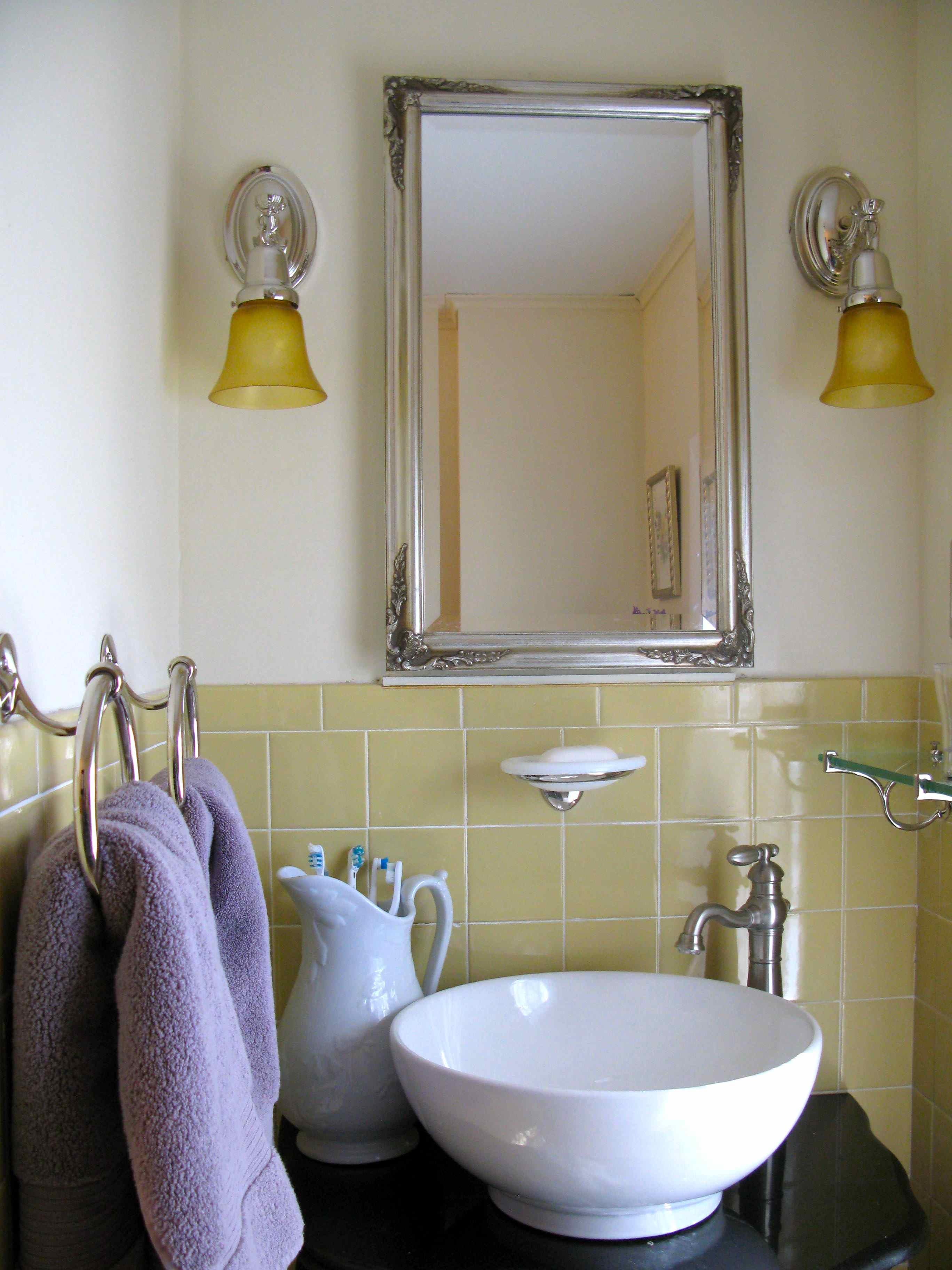 Yellow Bathroom Bin
