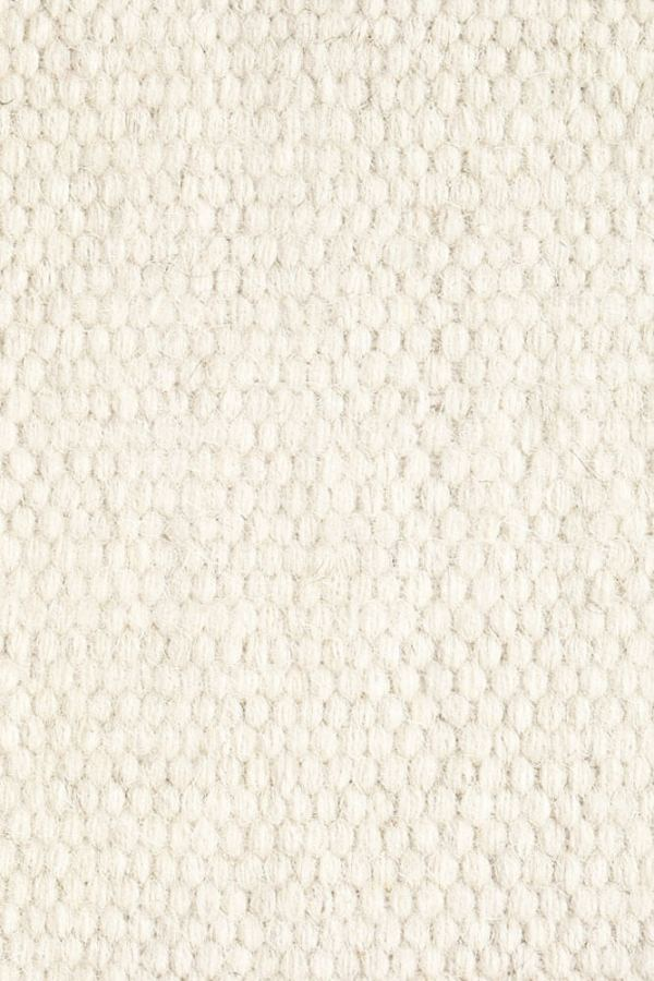 White Plain Wool Rug Closeup