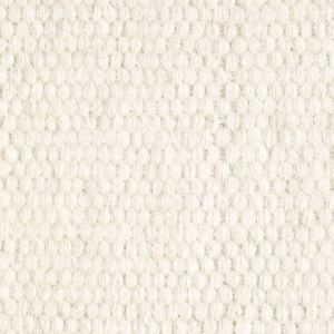White Plain Wool Rug Closeup
