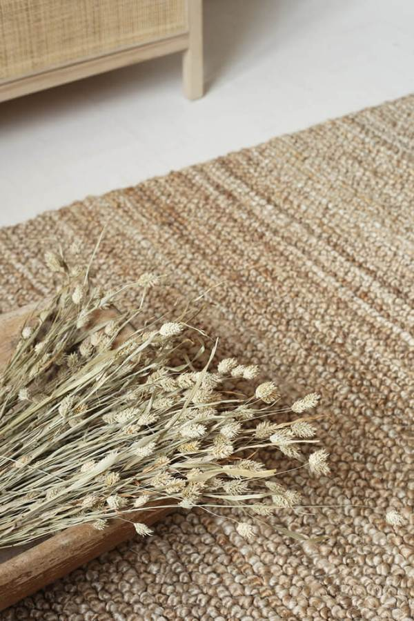 Natural Loop Hemp Rug interior