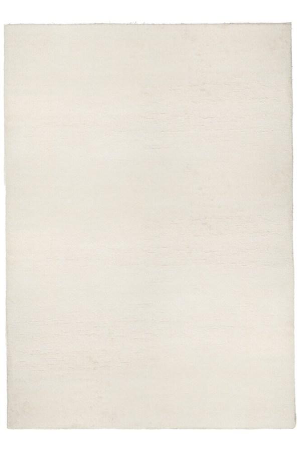 White Pile Linen Rug