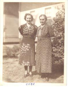 Mae and Anna Thomas, circa 1935, probably in Hempstead NY