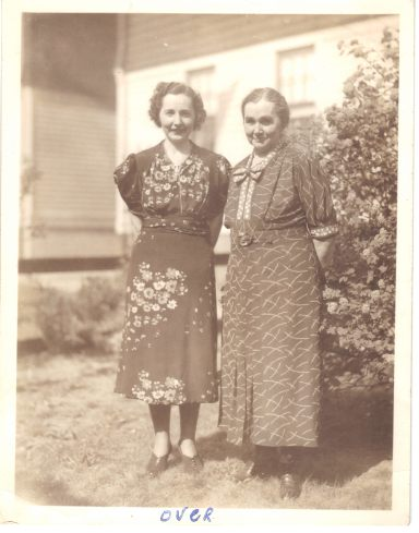 Mae and Anna Thomas, circa 1935, probably in Hempstead NY