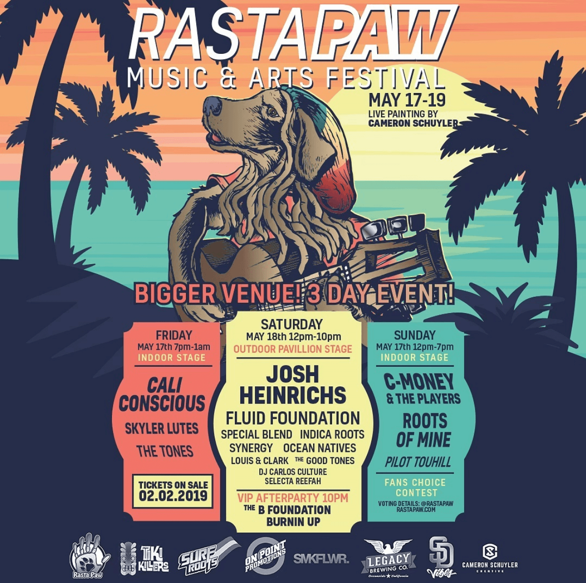 Rasta Paw Music Festival, Roots of Mine, LA Reggae band