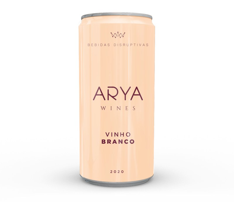 Kit 6 Vinhos Arya Wines Branco Lata