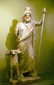 In Greek mythology, Pluto was portrayed as Hades, God of the Underworld.