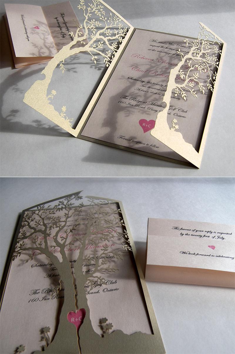 Laser Creative Wedding Invitations
