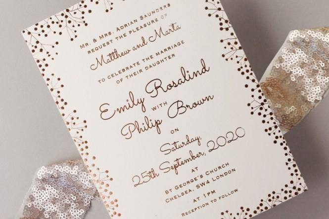 10 Elegant Wedding Invitation Card With Simple And Beautiful
