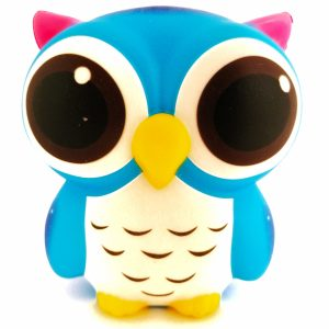 Cute owl - blauwe uil squishy