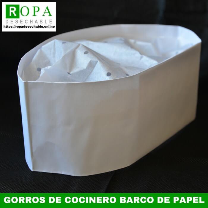 Gorros de cocinero barco de papel desechables