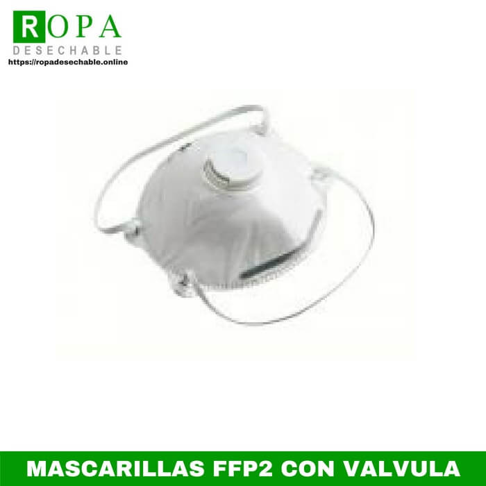 Mascarillas ffp2 con válvula